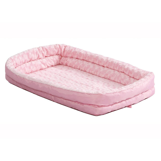 MidWest Quiet Time Powder Pink Fashion Double Bolster Bed