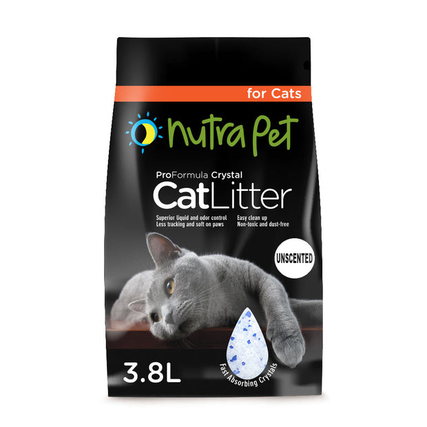 NutraPet Silica Gel Cat Litter Non-Scented - 3.8L