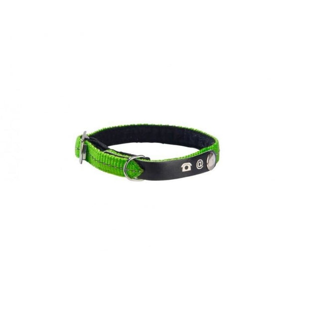 Address Reflective Cat Collar - Green - Cat Collars & Tags