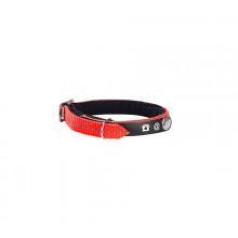 Address Reflective Cat Collar - Orange - Cat Collars & Tags