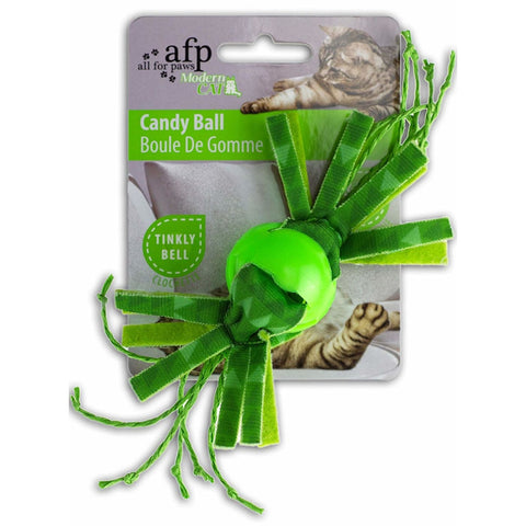 All For Paws Candy Ball - Green - Cat Toys