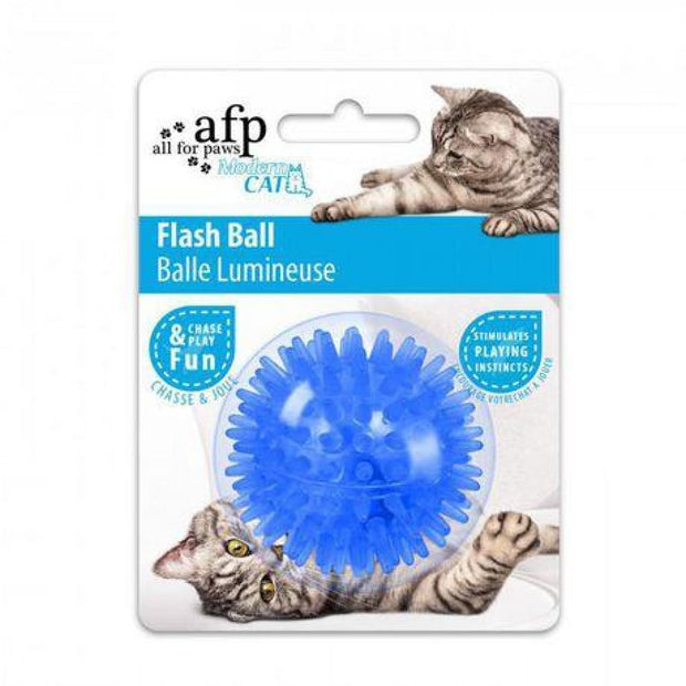 All For Paws Cat Flash Ball - Blue - Cat Toys