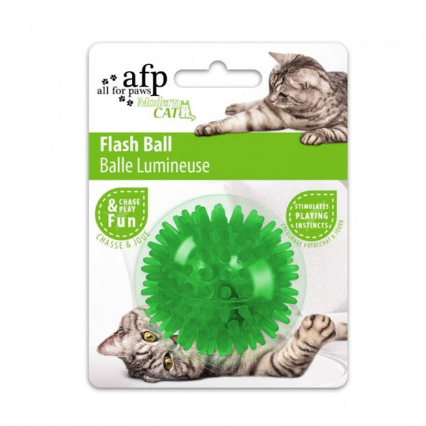 All For Paws Cat Flash Ball - Green - Cat Toys