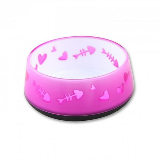 All For Paws Cat Love Bowl - Pink - Cat Feeders & Bowls