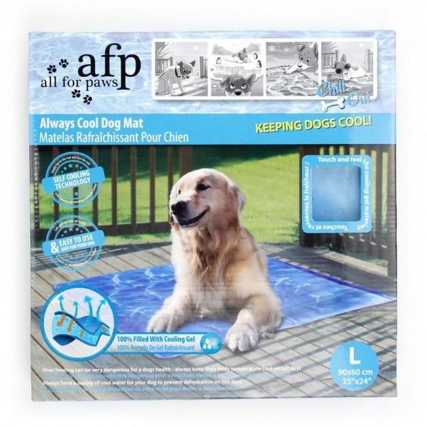 All For Paws Chill Out Always Cool Dog Mat - Large - Beds