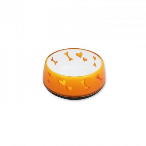 All For Paws Dog Love Bowl - Orange - Dog Bowls & Feeders