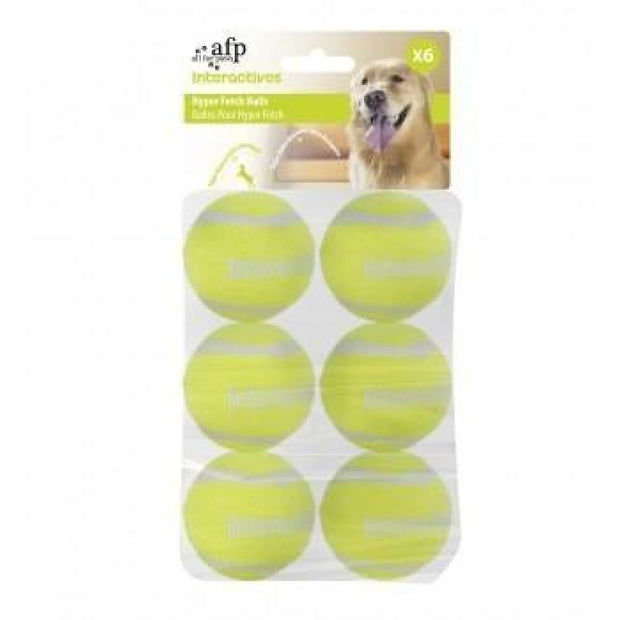 All For Paws Fetch balls - 6 pack - Dog Toys