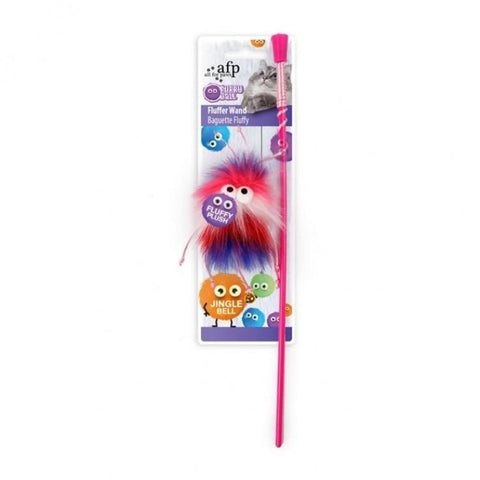 All For Paws Fluff-Ball Wand - Pink - Cat Toys