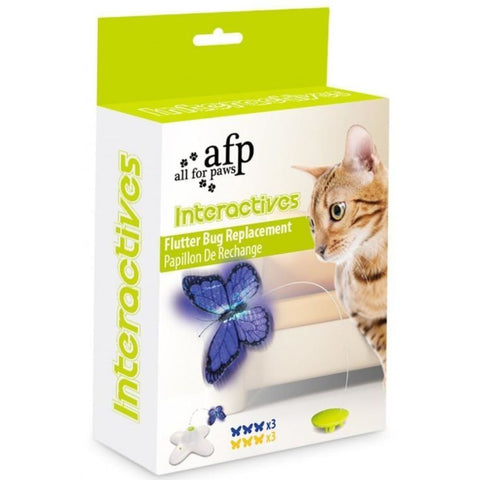 All For Paws Flutter Bug Refills - Cat Toys