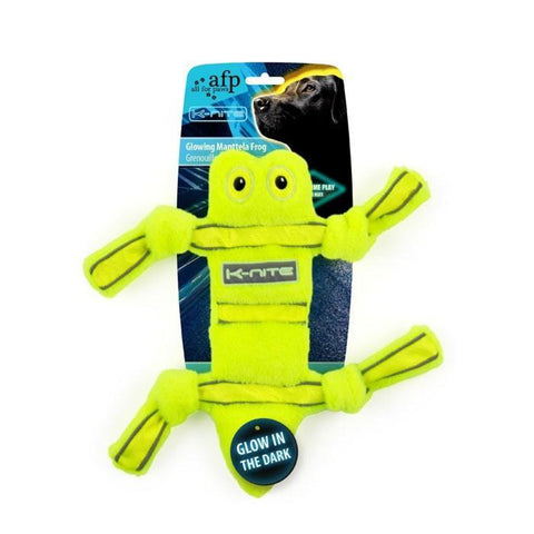 All For Paws Glowing Manttela Frog - Dog Toys