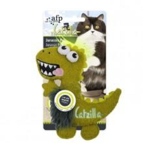 All For Paws Jurassipals Green - Cat Toys