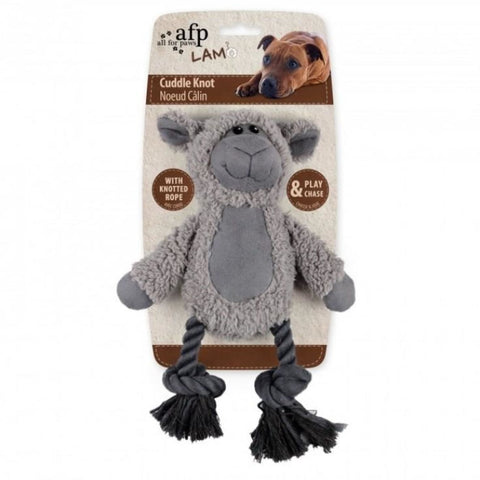 All For Paws Lambswool Cuddle Knot Sheep - Dog Toys