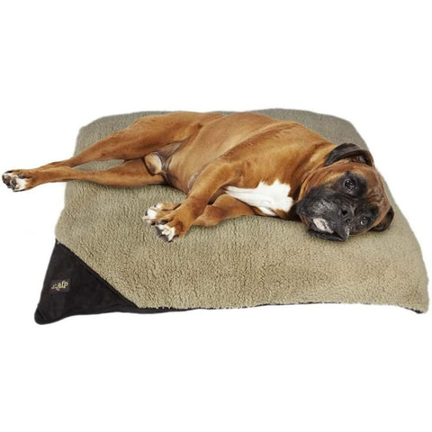 All For Paws Lambswool Pillow Bed - Brown / Small - Beds