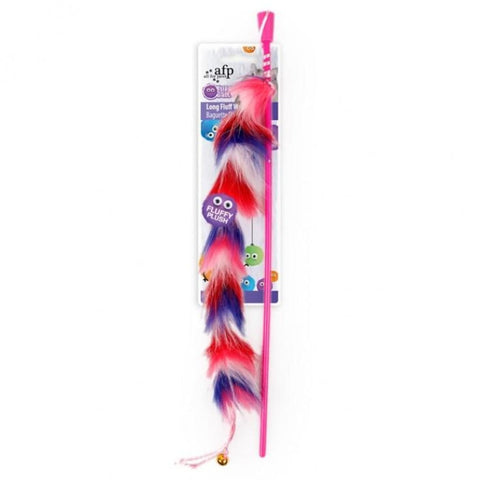 All For Paws Long Fluffy Wand - Red - Cat Toys