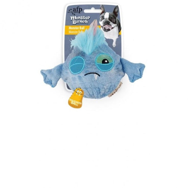 All For Paws Monster Ball - Blue - Dog Toys