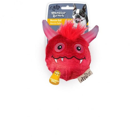 All For Paws Monster Ball - Red - Dog Toys