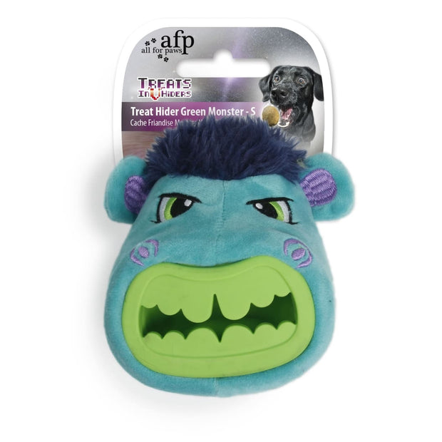 All For Paws Monster Head Treat Hider - Dog Toys