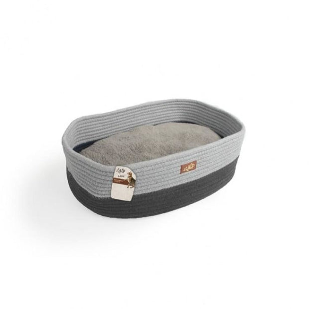 All for Paws Oval Rope Cat Bed - Grey - Beds & Cat Carriers