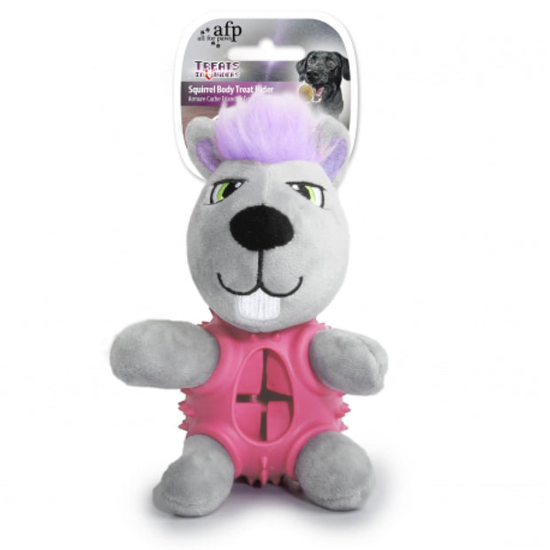 All For Paws Squirrel Body Treat Hider - Dog Toys