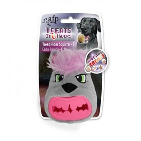 All For Paws Squirrel Head Treat Hider - Dog Toys
