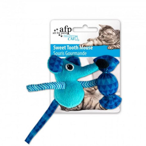 All For Paws Sweet Tooth Mouse - Blue - Cat Toys