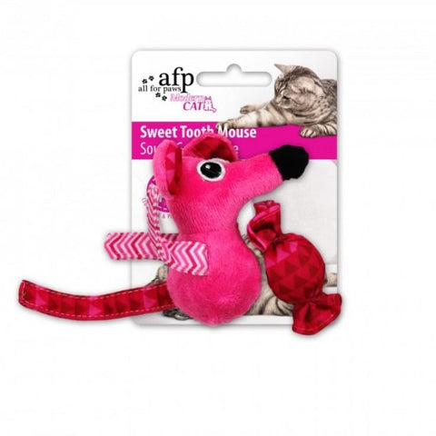 All For Paws Sweet Tooth Mouse - Pink - Cat Toys