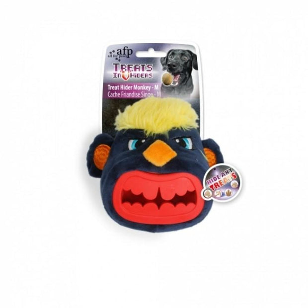 All For Paws Treat Hider Monkey Head - Dog Toys
