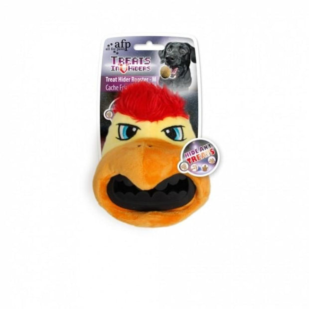 All For Paws Treat Hider Rooster Head - Dog Toys