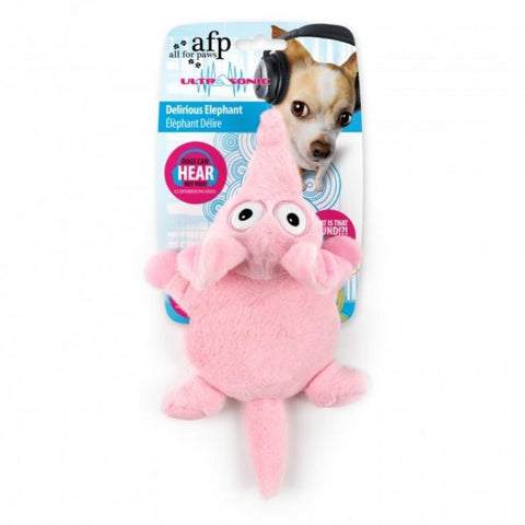 All For Paws Ultrasonic Delirious Elephant - Dog Toys