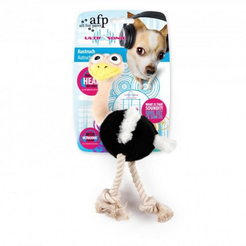 All For Paws Ultrasonic Ostrich - Dog Toys