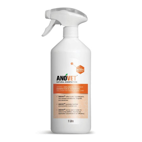 Anovet Natural Disinfection Spray - 1 Litre - First Aid
