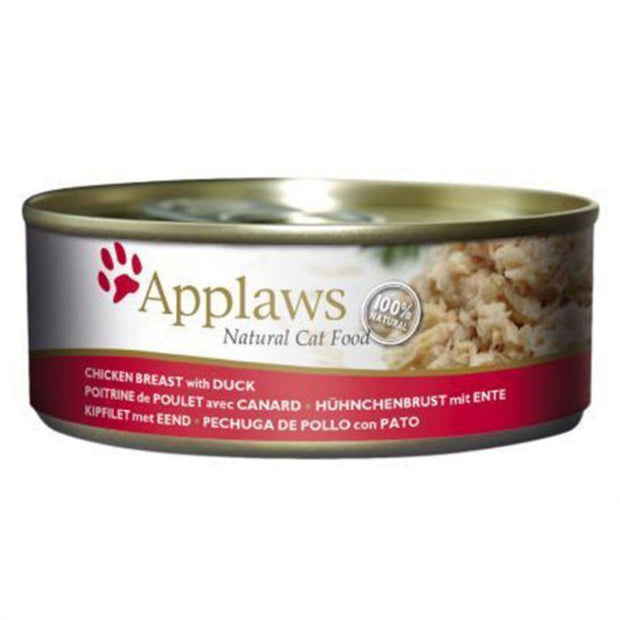 Applaws Cat Chicken with Duck (156g Tin) - Cat Food