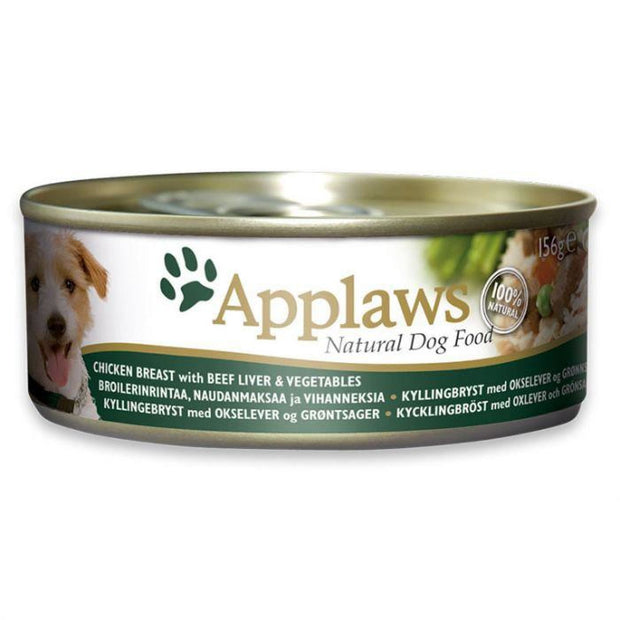 Applaws Dog Chicken with Beef Liver & Vegetables (156g Tin)
