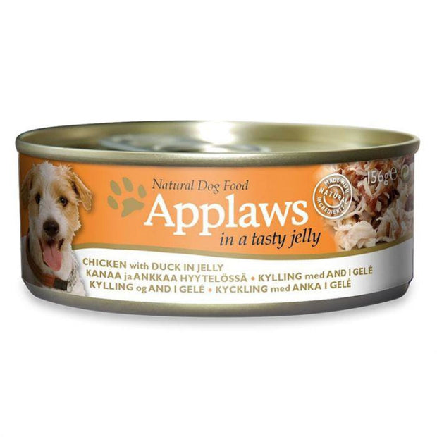 Applaws Dog Chicken With Duck In Jelly (156g Tin) - Dog Food