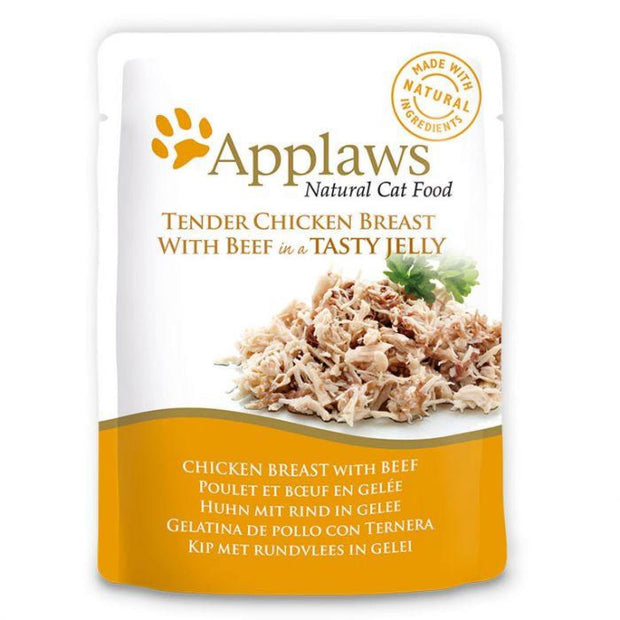 Applaws Jelly Pouch - Chicken with Beef (70g) - Cat Food