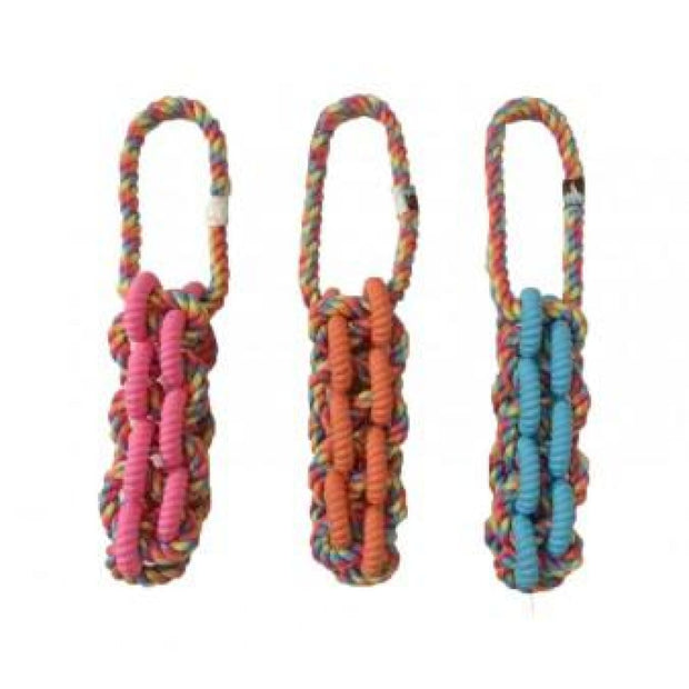 Bark A Boo Braided Rope TPR Tug - Dog Toys