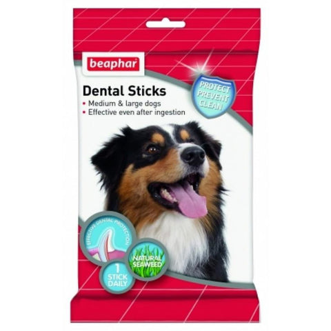 Beaphar Dental Sticks for Medium & Large Dogs - Dog Treats