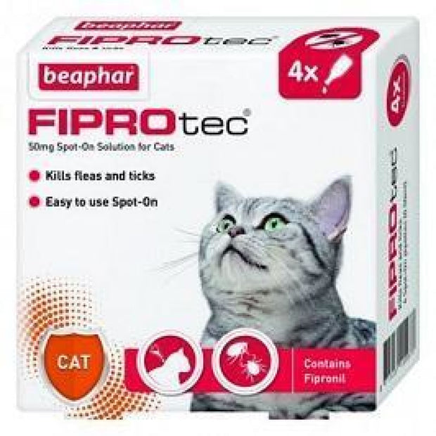 Beaphar FIPROtec For Cats (4 pipettes) - Flea & Tick