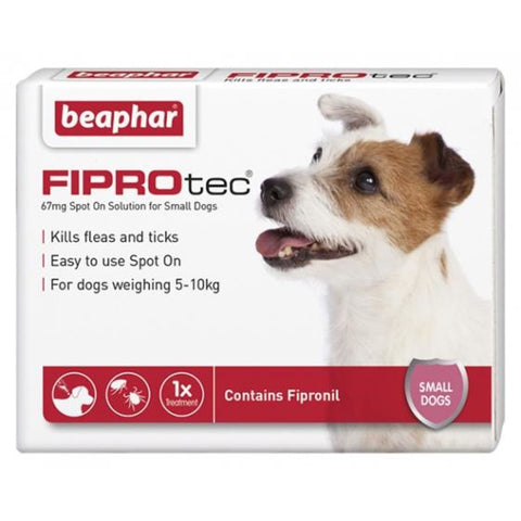 Beaphar FIPROtec for Small Dogs (4 pipettes) - Flea & Tick