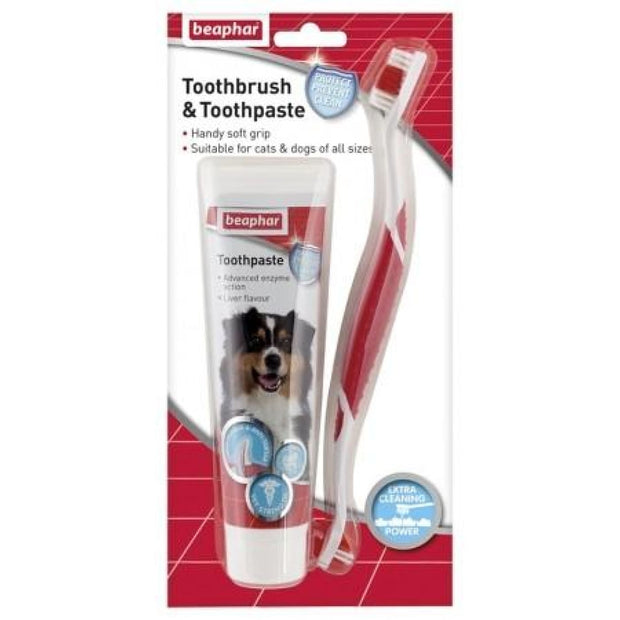Beaphar Toothbrush & Toothpaste Set - Healthcare & Grooming