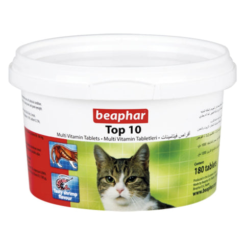 Beaphar Top10 Cat Multi-Vitamins - Cat Health & Grooming