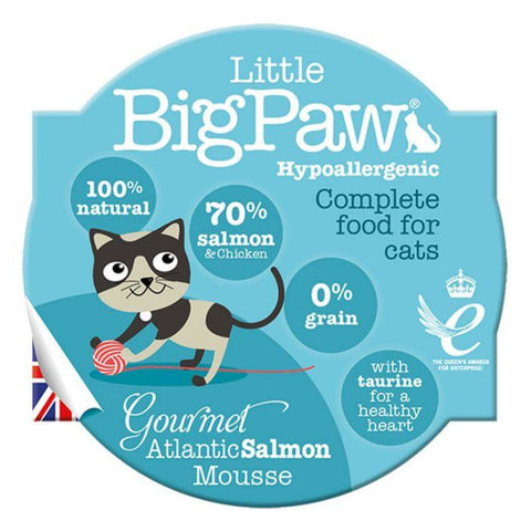 Little Big Paw Gourmet Salmon Mousse 85g - Cat Food