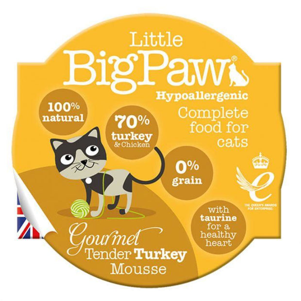 Little Big Paw Gourmet Turkey Mousse 85g - Cat Food