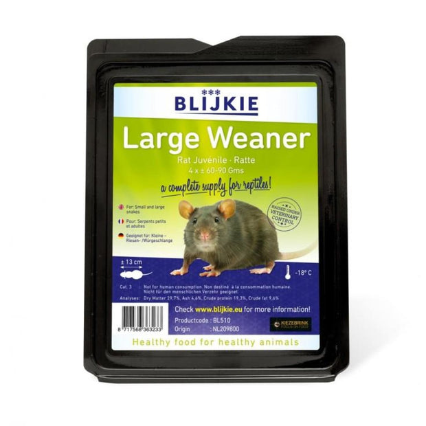 Blijkie Frozen Large Weaner Rat - Food & Health