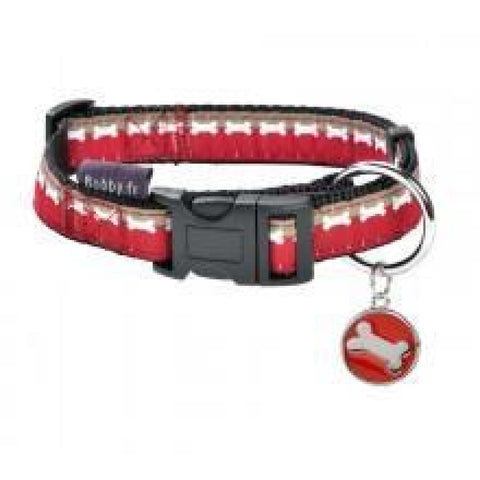 Bobby Bonjour Collar - Red - Small - Collars & Fashion