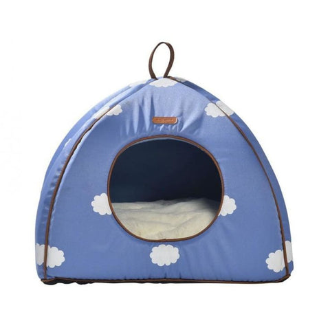 Bobby Cat Cottage - Blue Clouds - Beds & Cat Carriers