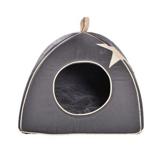 Bobby Cat Cottage - Grey Star - Beds & Cat Carriers