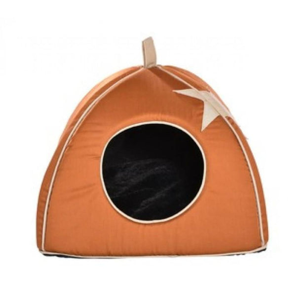 Bobby Cat Cottage - Tan Star - Beds & Cat Carriers
