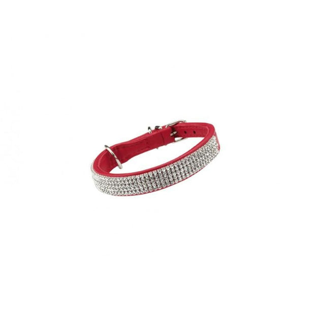 Bobby Crystal Dog Collar - Red - Collars & Fashion