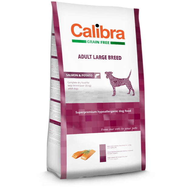 Calibra Grain-Free Adult Large Breed Salmon 12kg - Dog Food